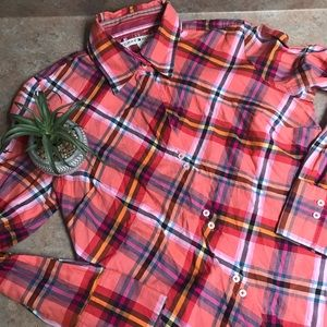 Tommy Hilfiger multicolored plaid button down top